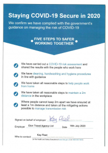 COVID19 Secure Notice